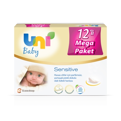 Uni Baby Sensitive Islak Havlu 12'li
