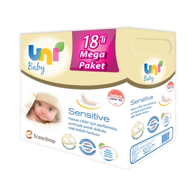 Uni Baby Sensitive Islak Havlu 18'ii