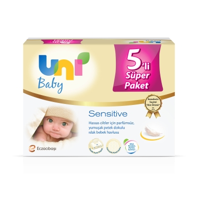 Uni Baby Sensitive Islak Havlu 5'li